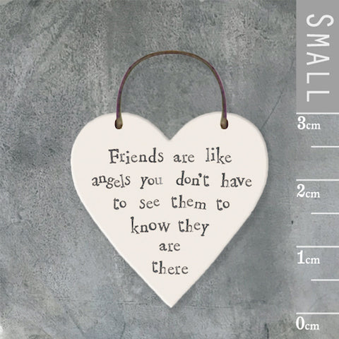 Friends Are Like Angels...Mini Keepsake Heart
