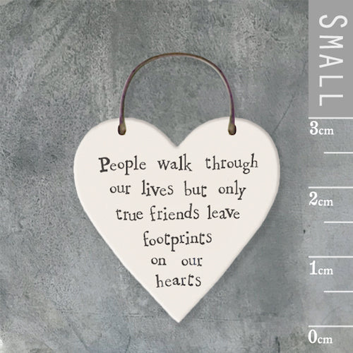 People Walk Through Our Lives...Mini Keepsake Heart