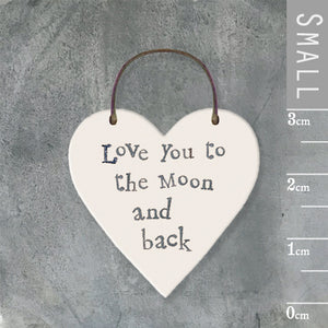 Love You To The Moon & Back Mini Keepsake Heart