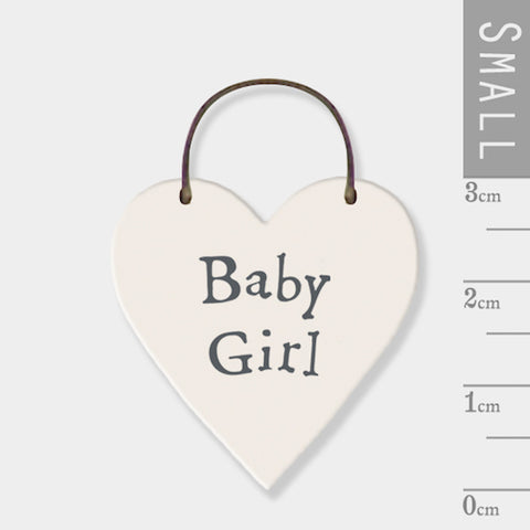 Baby Girl Mini Keepsake Heart