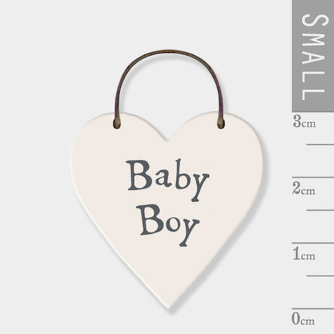 Baby Boy Mini Keepsake Heart