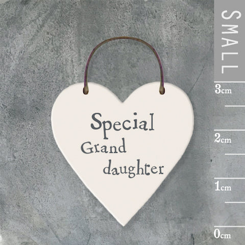 Special Granddaughter Mini Keepsake Heart