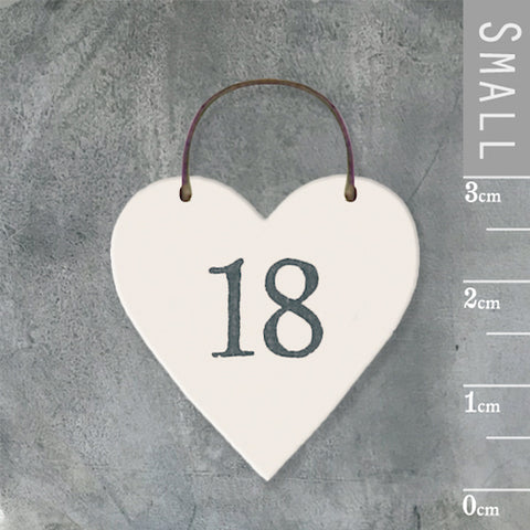18 Eighteen Mini Keepsake Heart