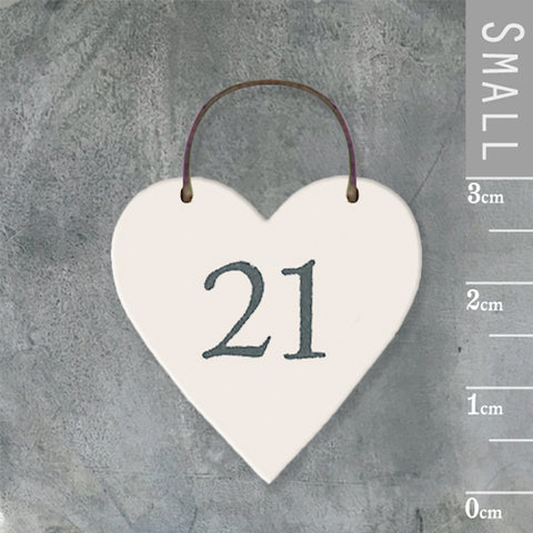 21 Twenty One Mini Keepsake Heart