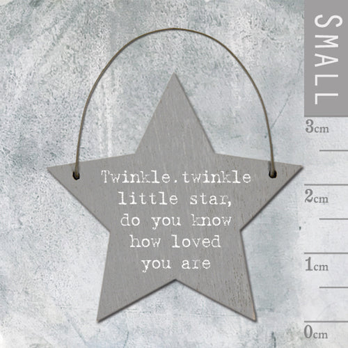 Twinkle Twinkle Little Star Mini Keepsake Star