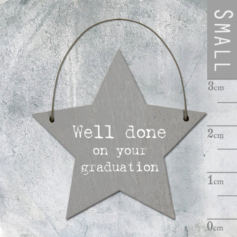 Well Done On Your Graduation Mini Keepsake Star