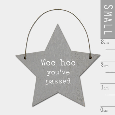 Woohoo You've Passed Mini Keepsake Star