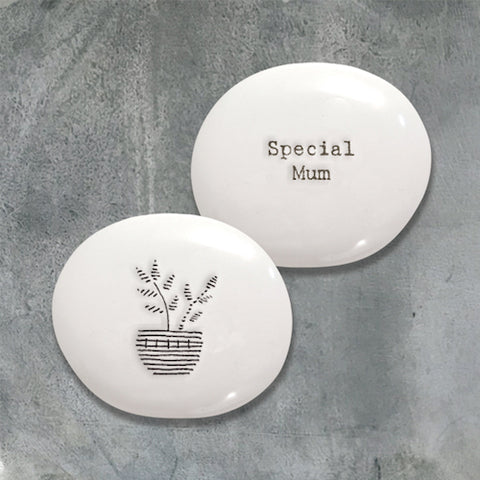 Special Mum Porcelain Keepsake Pebble