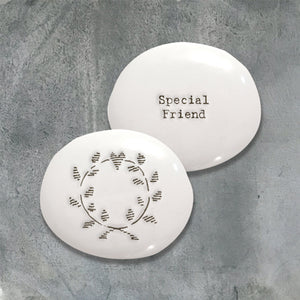 Special Friend Porcelain Keepsake Pebble