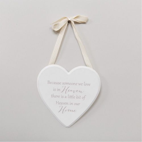 Someone We Love Is In Heaven Wooden Hanging Heart