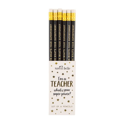 Teacher Superpower Pencil Set