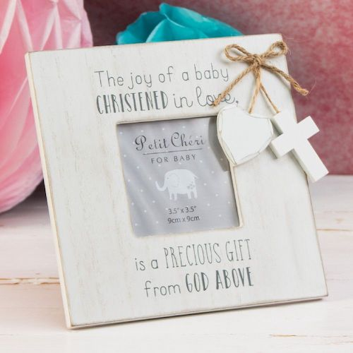 Baby Christening Frame - Personalised