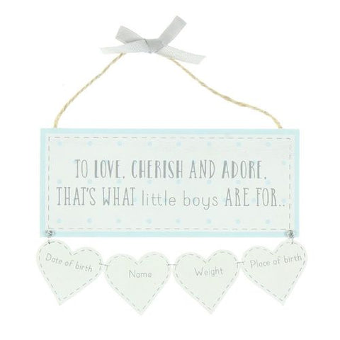 That's What Little Boys Are For Keepsake Sign - Personalised