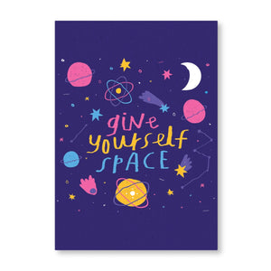 Give Yourself Space Postcard