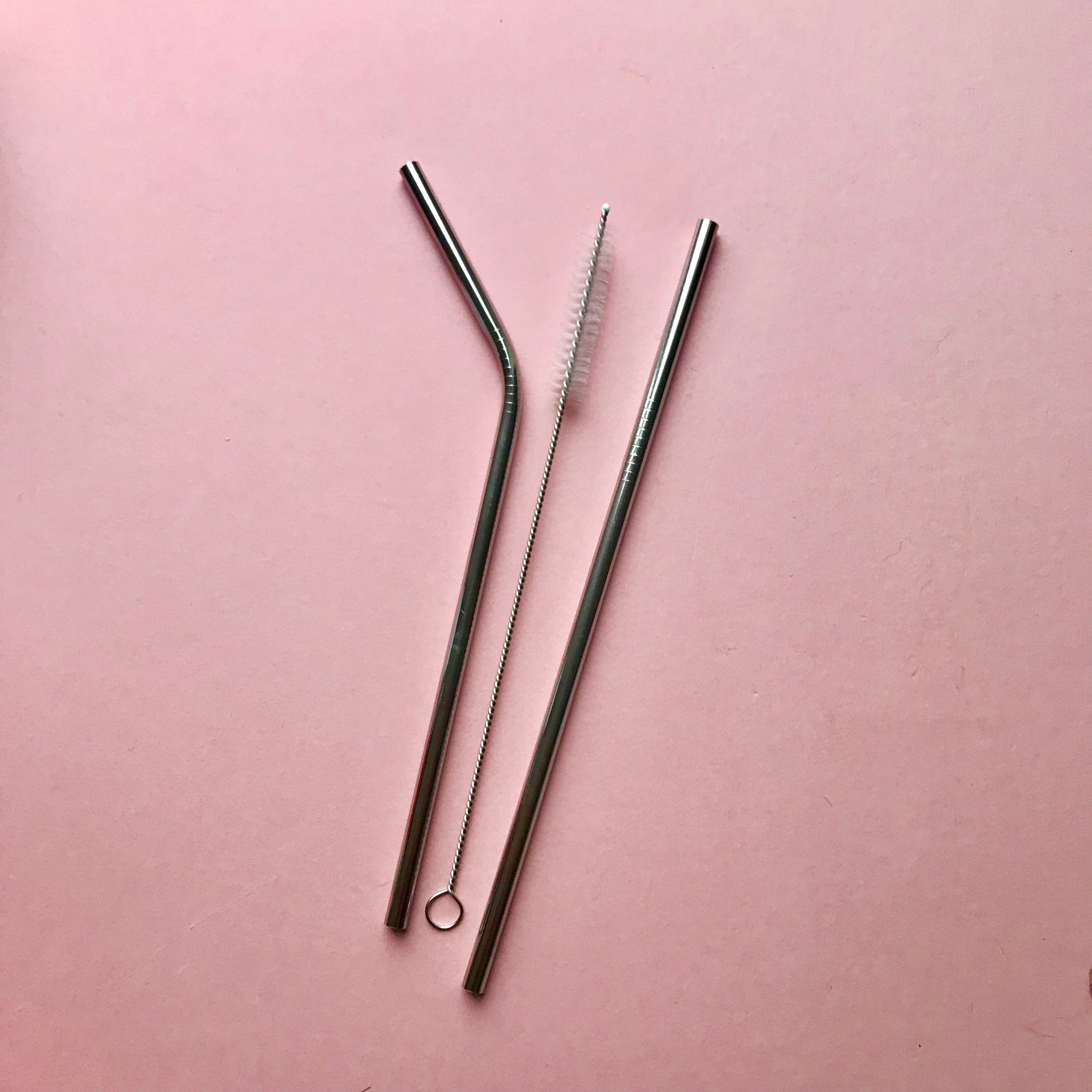 Stainless Steel Metal Straws & Straw Cleaner