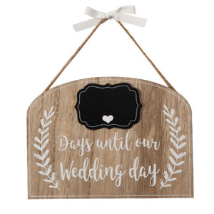Days Until Our Wedding Day Countdown Plaque