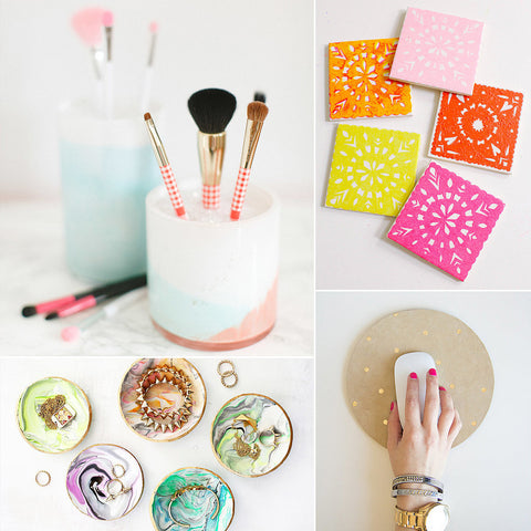 collage of diy arts and crafts