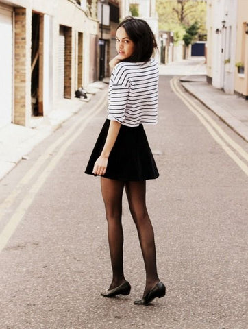 tights with skirt