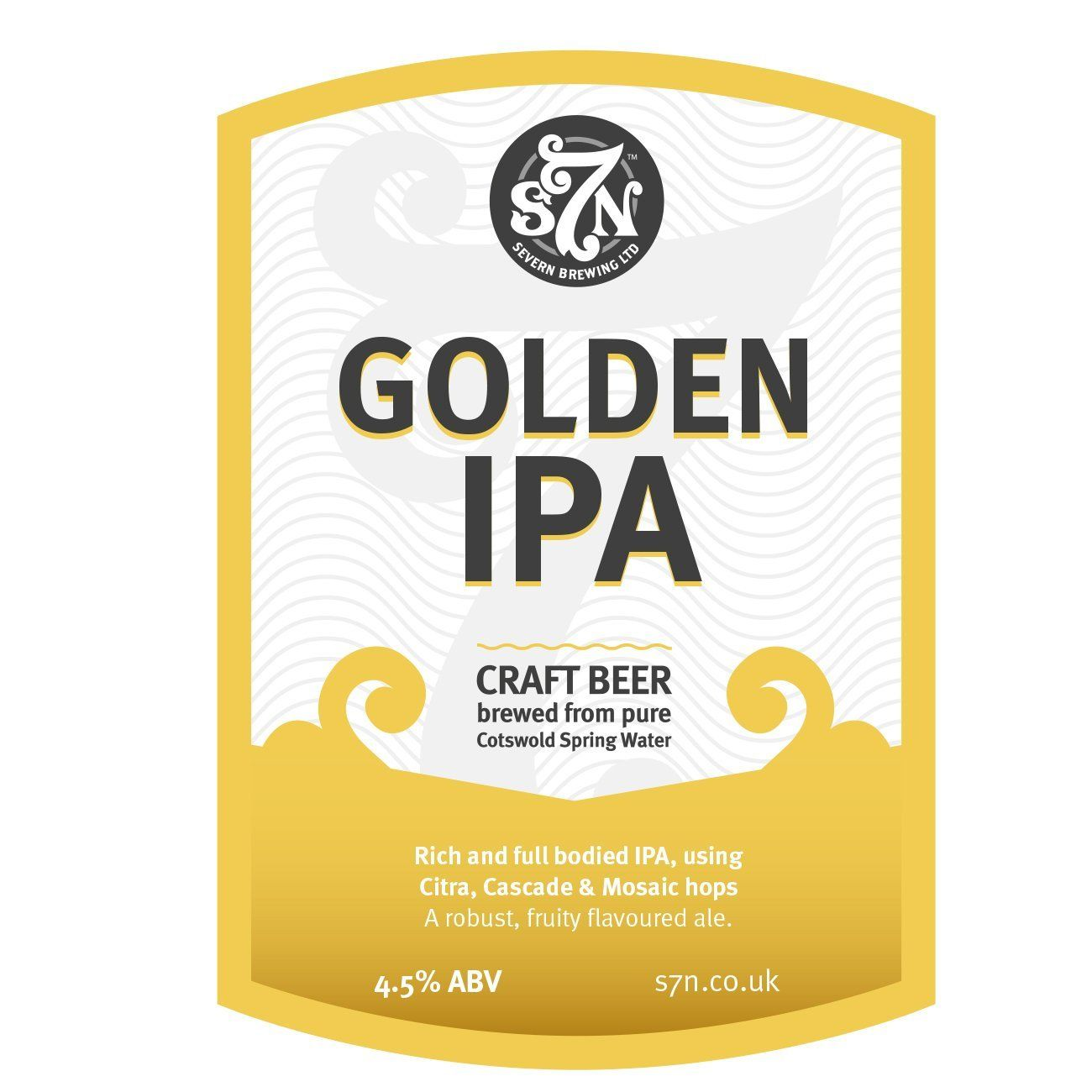 GOLDEN IPA 20L -  DISPATCED DIRECT FROM S7 BREWERY