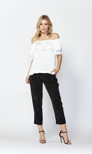 WEEKEND BLUES RUFFLE TOP