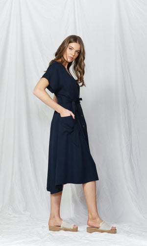 RUSH HOUR BUTTON-DOWN DRESS