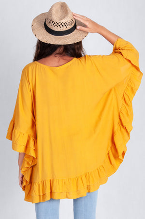 RELAXED FRILL TOP