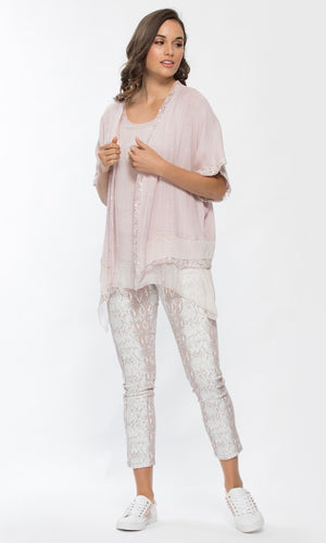 SEQUIN & LACE TRIM JACKET