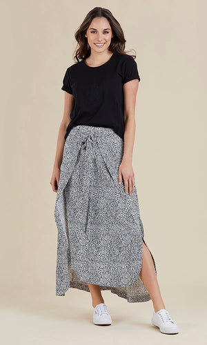 WRAP AND TIE SKIRT