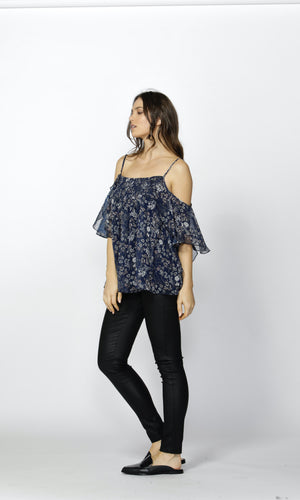 SUMMER NIGHTS RUCHED BLOUSE