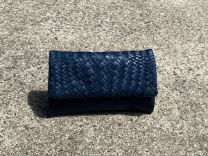 VINTAGE LEATHER WEAVE WALLET