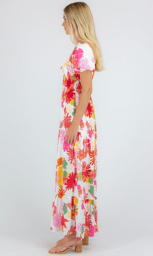 BUBBLE TIERED MAXI