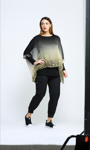 MARIGOLD ANIMAL PRINT TOP