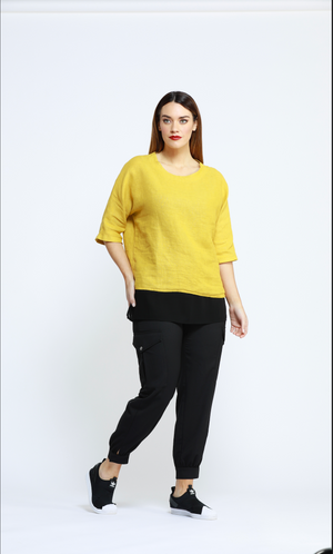 NANCY 3/4 SLEEVE TOP