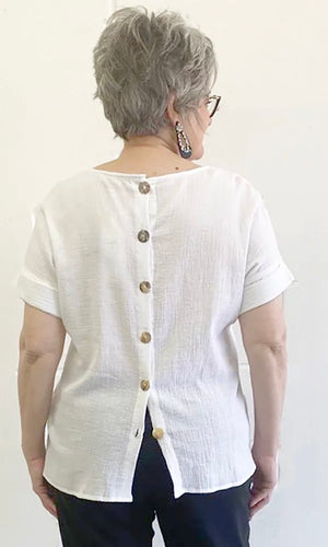 CLARITY EXTENDED SHOULDER TOP