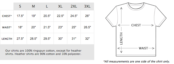 BAD Gear & Offroad Clothing Size Chart