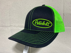Peterbilt Trucker Hat (Black & Lime Green(
