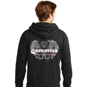 Cummins Turbo Hoodie (Black & Red)