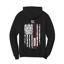 Load image into Gallery viewer, Duramax Flag Hoodie (Black & Red)
