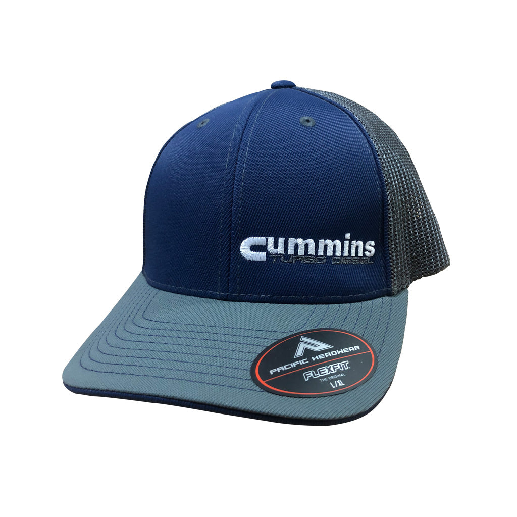 Cummins Turbo Diesel Fitted Hat (Navy & Gray)