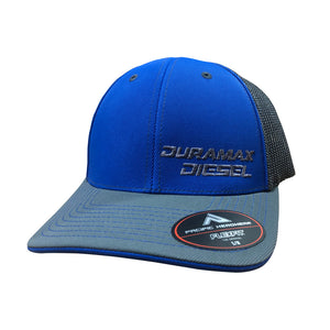 Duramax Diesel Fitted Hat (Royal Blue & Gray)