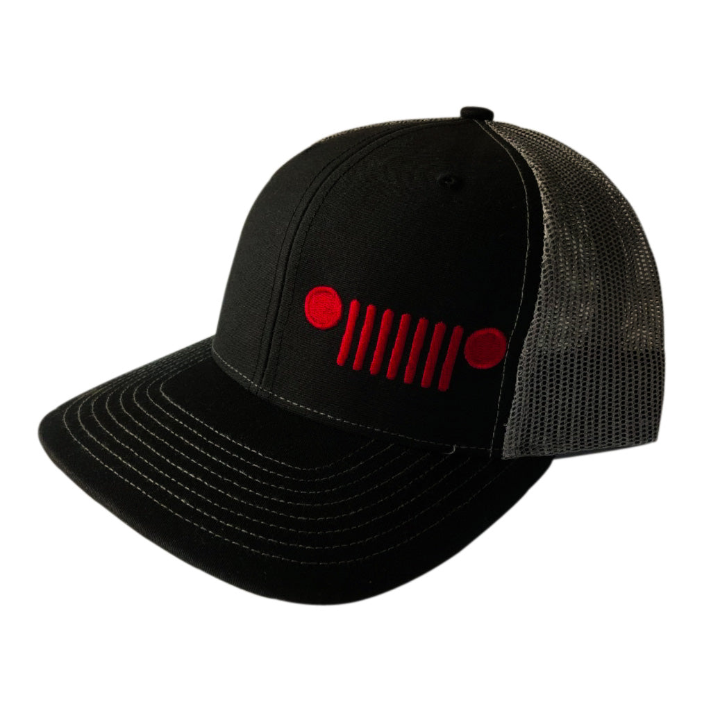 Jeep Grill Hat (Black & Red)