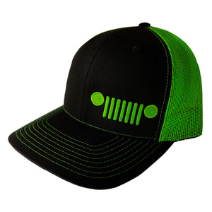 Jeep Grill Hat (Lime Green)
