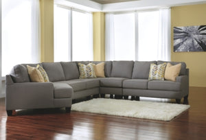 Chamberly Signature Design by Ashley 5-Piece Sectional with Cuddler