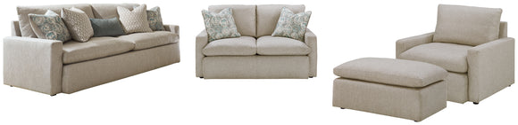 Melilla Benchcraft 4-Piece Upholstery Package