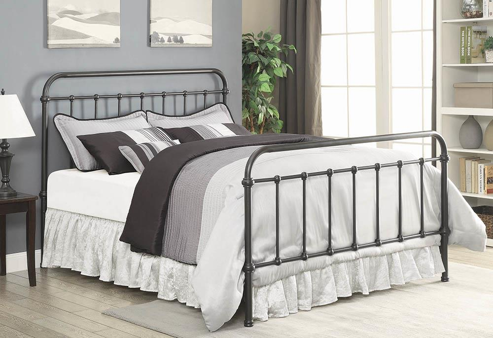 Livingston Transitional Dark Bronze Eastern King Bed