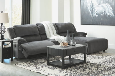Clonmel Signature Design by Ashley 3-Piece Reclining Sectional with Chaise