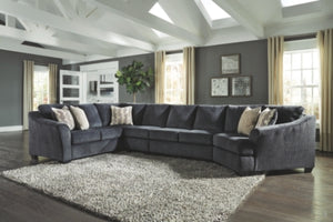 Eltmann Signature Design by Ashley 4-Piece Sectional with Cuddler