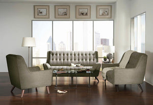 Open image in slideshow, Natalia Mid-Century Modern Dove Grey Sofa