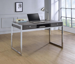 Open image in slideshow, Contemporary Weathered Grey Writing Desk