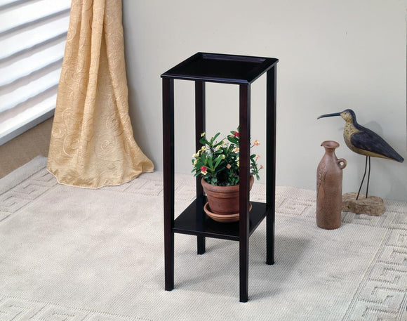 Transitional Espresso Accent Table
